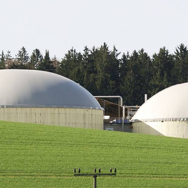 Waste treatment and biogas generation plant
